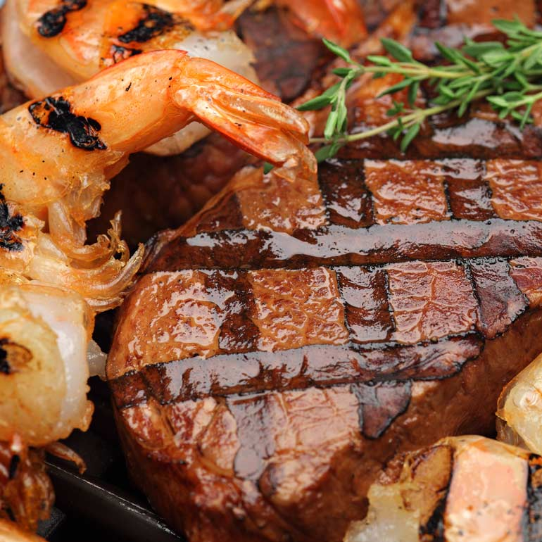 steak and shrimp